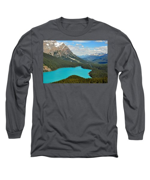 Peyto Lake Long Sleeve T-Shirt by Lisa Phillips