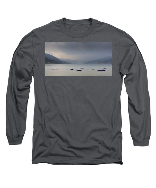 Phewa Lake In Pokhara Long Sleeve T-Shirt