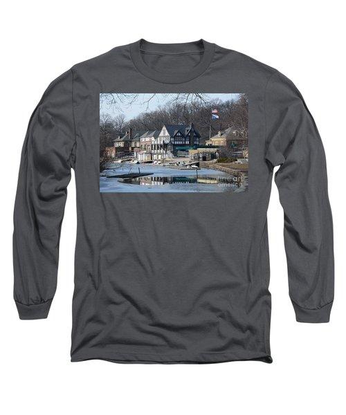 Philadelphia - Boat House Row Long Sleeve T-Shirt by Cindy Manero