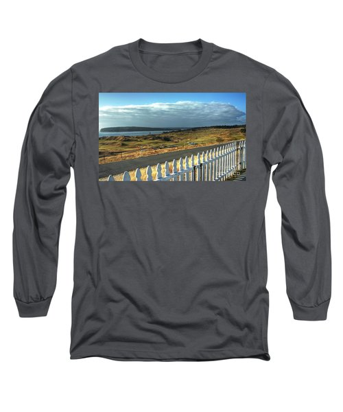 Picket Fence - Chambers Bay Golf Course Long Sleeve T-Shirt by Chris Anderson