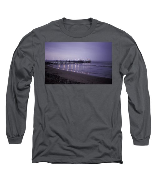 Pier At Dusk Long Sleeve T-Shirt by Lana Enderle