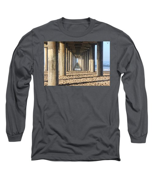 Long Sleeve T-Shirt featuring the photograph Pier by Tammy Espino