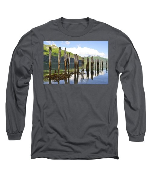 Long Sleeve T-Shirt featuring the photograph Pilings by Cathy Mahnke