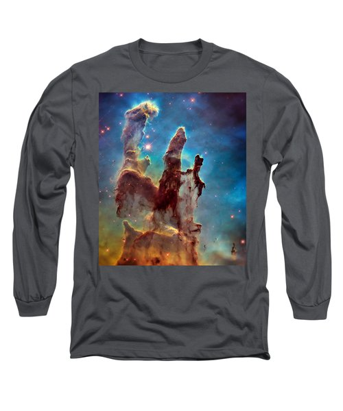 Pillars Of Creation In High Definition Cropped Long Sleeve T-Shirt