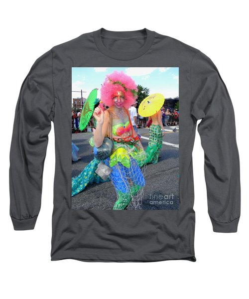 Long Sleeve T-Shirt featuring the photograph Pink Afro by Ed Weidman