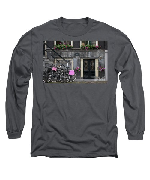 Pink Bikes Of Amsterdam Long Sleeve T-Shirt