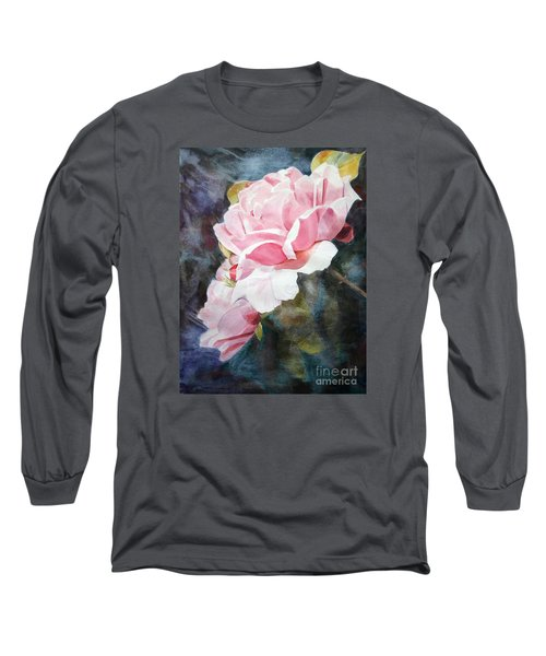 Pink Rose Caroline Long Sleeve T-Shirt by Greta Corens