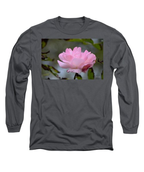 Long Sleeve T-Shirt featuring the photograph The Last Rose by Debra Martz