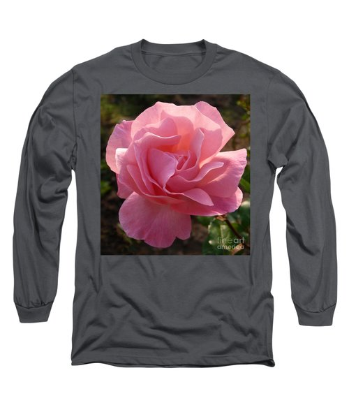 Long Sleeve T-Shirt featuring the photograph Pink Rose by Phil Banks