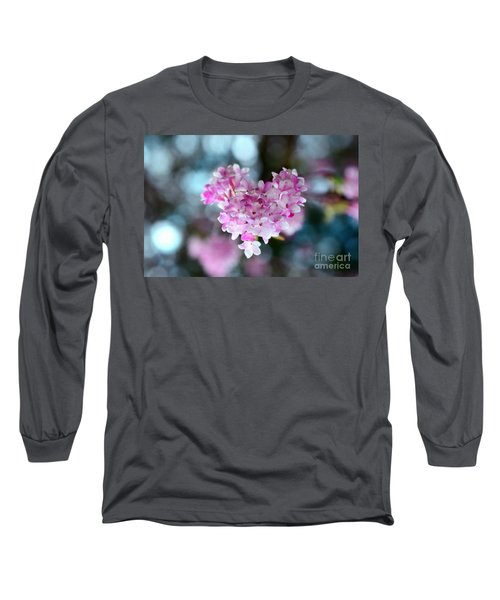 Pink Spring Heart Long Sleeve T-Shirt