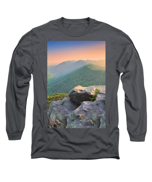 Pinnacle Rock Long Sleeve T-Shirt by Mary Almond