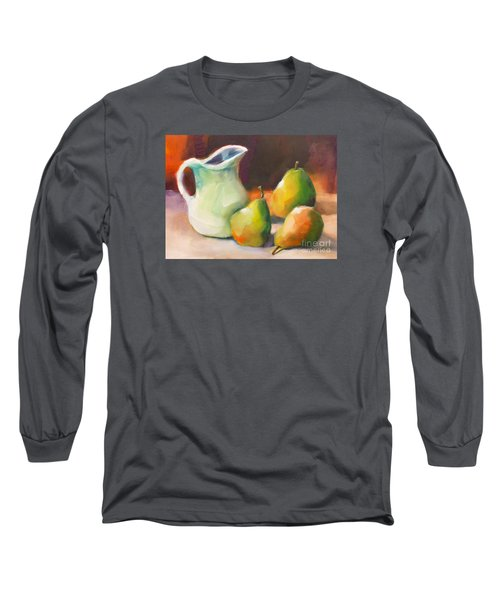 Long Sleeve T-Shirt featuring the painting Pitcher And Pears by Michelle Abrams