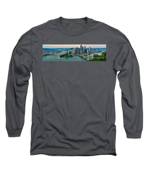 Pittsburgh Panorama At Dusk Long Sleeve T-Shirt