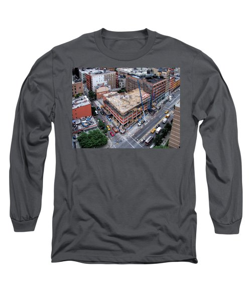 Placing Concrete Forms Long Sleeve T-Shirt by Steve Sahm
