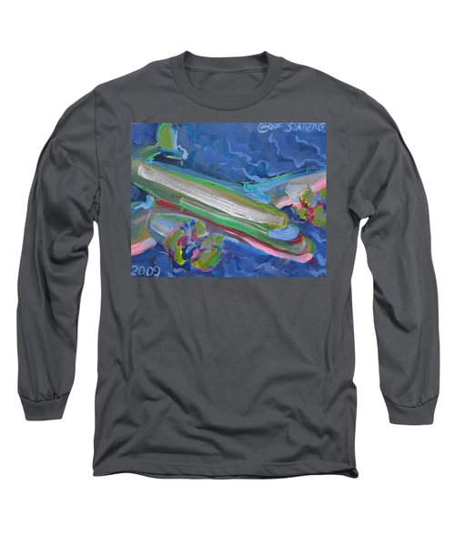 Plane Colorful Long Sleeve T-Shirt