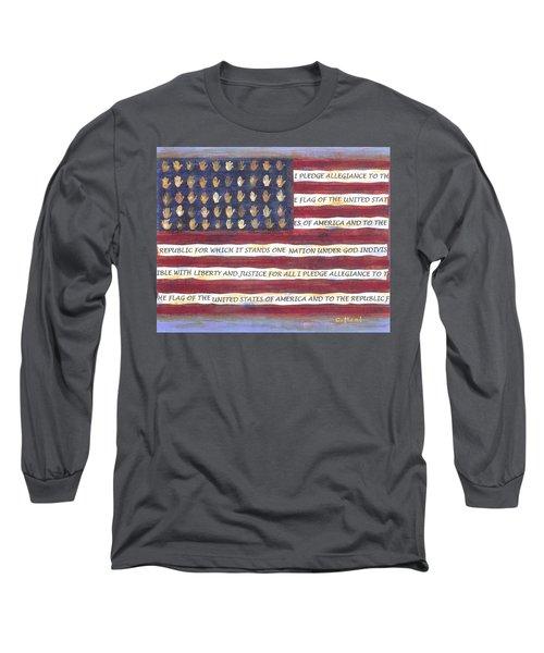 Pledge Flag Long Sleeve T-Shirt