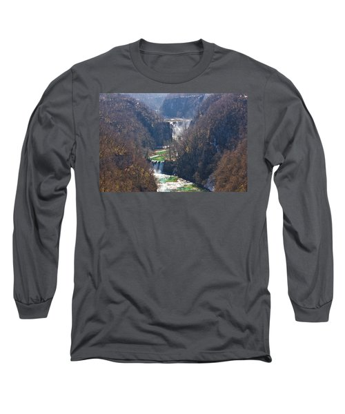 Plitvice Lakes National Park Canyon Long Sleeve T-Shirt