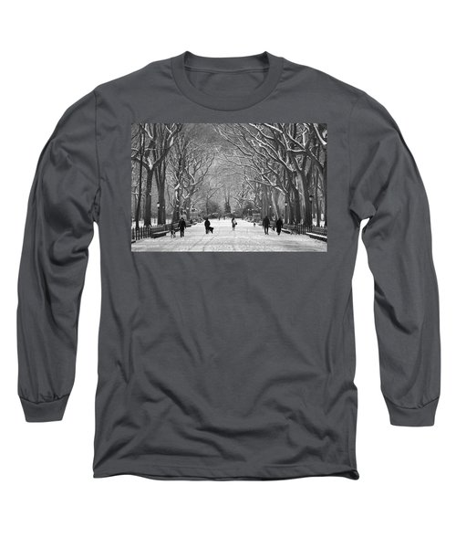 New York City - Poets Walk Winter Long Sleeve T-Shirt