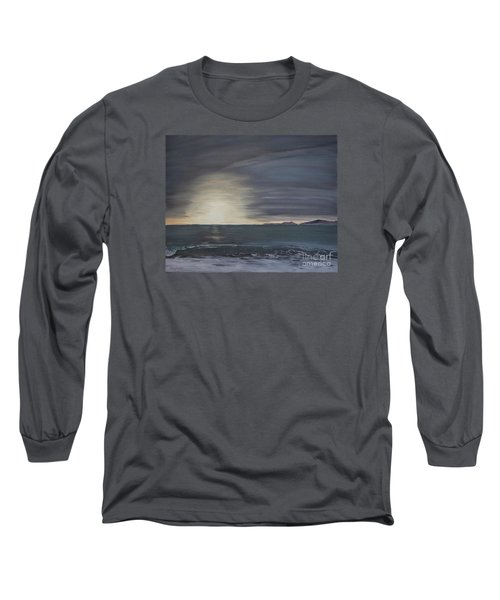 Long Sleeve T-Shirt featuring the painting Point Mugu Sunset by Ian Donley