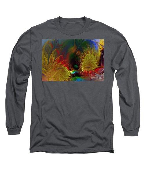 Point Of No Return-abstract Fractal Art Long Sleeve T-Shirt