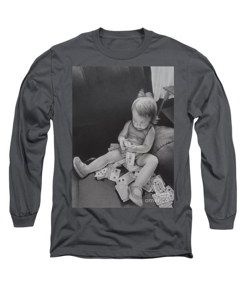 Pokerface Long Sleeve T-Shirt by Pamela Clements
