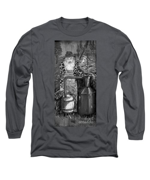 Popcorn Sutton - Black And White - Legendary Long Sleeve T-Shirt