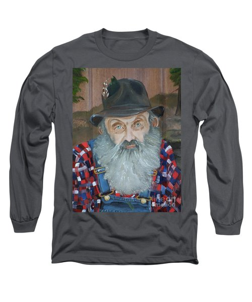 Popcorn Sutton - Moonshiner - Portrait Long Sleeve T-Shirt