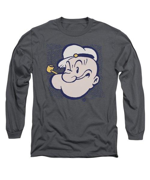 Popeye - Head Long Sleeve T-Shirt by Brand A