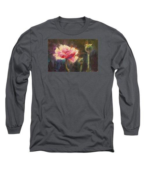 Poppy Glow Long Sleeve T-Shirt by Karen Whitworth