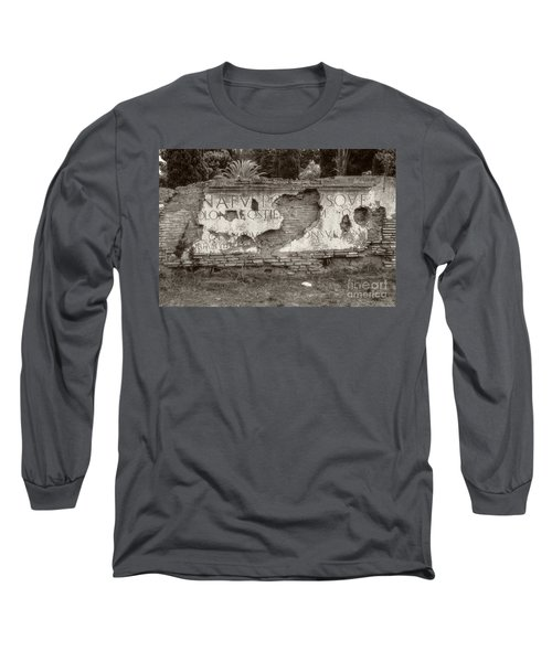 Porta Romana In Sepia Long Sleeve T-Shirt