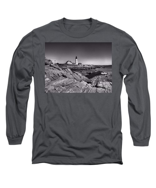 Portland Head Light Long Sleeve T-Shirt by Elizabeth Dow