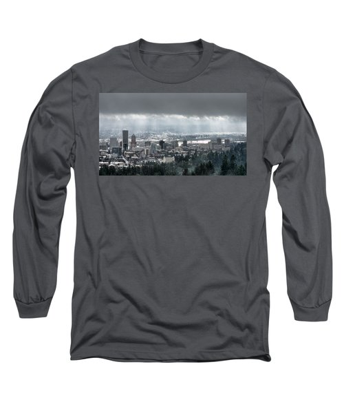 Portland Oregon After A Morning Rain Long Sleeve T-Shirt