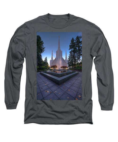 Portland Temple Long Sleeve T-Shirt by Dustin  LeFevre
