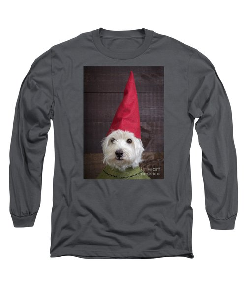 Portrait Of A Garden Gnome Long Sleeve T-Shirt