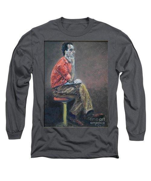 Portrait Of Ali Akrei - The Painter Long Sleeve T-Shirt