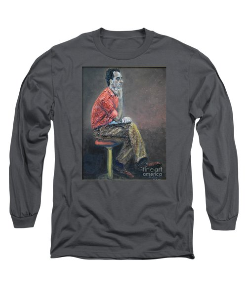 Portrait Of Ali Akrei - The Painter Long Sleeve T-Shirt