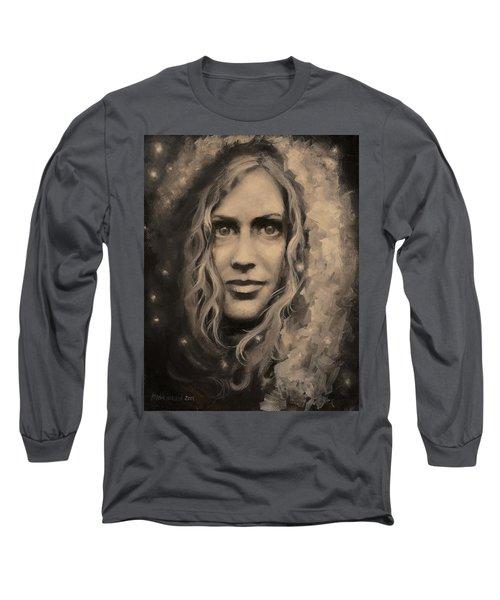 Portrait Of Annie Long Sleeve T-Shirt