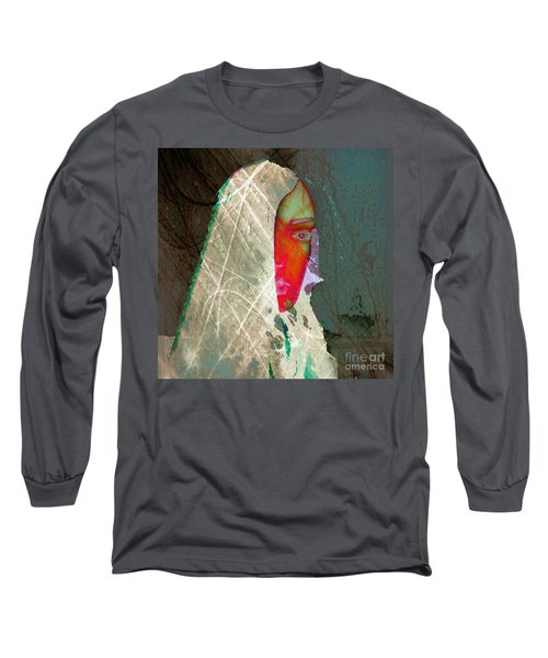 Portrait Of Horror Long Sleeve T-Shirt by Irma BACKELANT GALLERIES