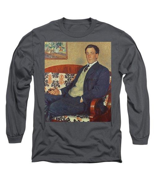Portrait Of Peter Kapitza 1926 Long Sleeve T-Shirt
