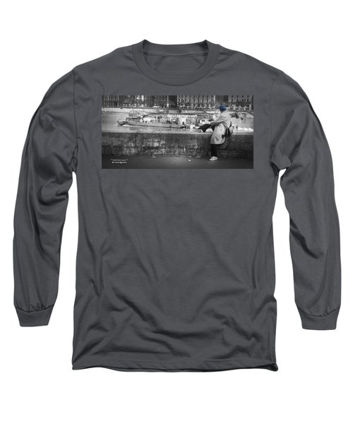 Long Sleeve T-Shirt featuring the photograph Positive Meditation On The River by Stwayne Keubrick