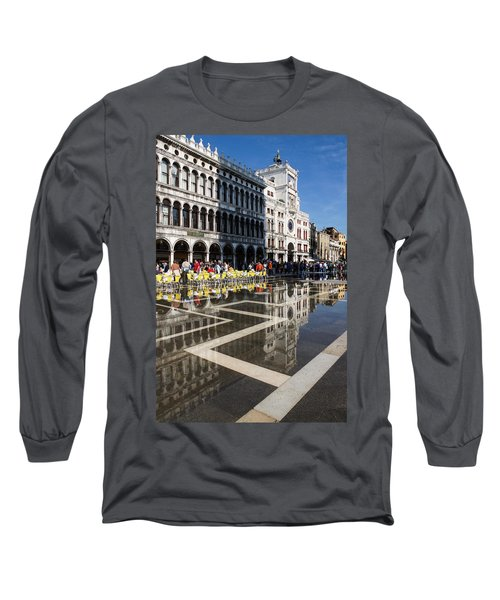 Long Sleeve T-Shirt featuring the photograph Postcard From Venice by Georgia Mizuleva