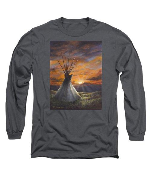 Prairie Sunset Long Sleeve T-Shirt by Kim Lockman