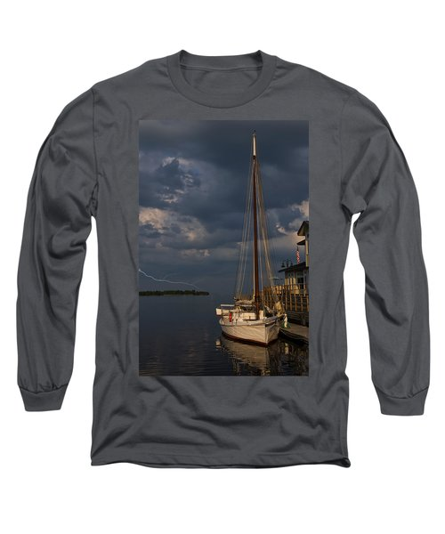 Preparing For The Storm Long Sleeve T-Shirt by Chris Flees