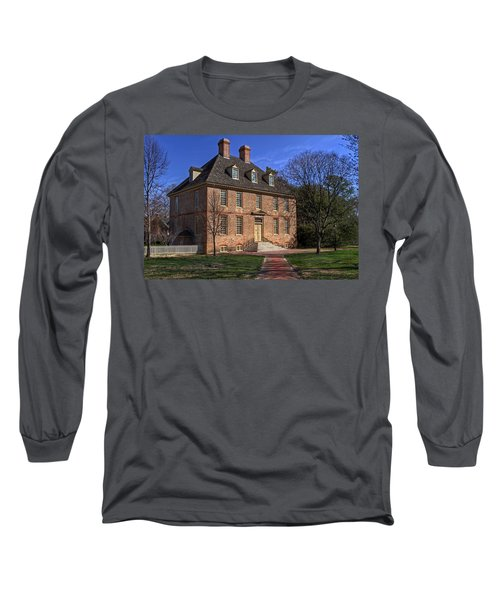 Long Sleeve T-Shirt featuring the photograph President's House College Of William And Mary by Jerry Gammon