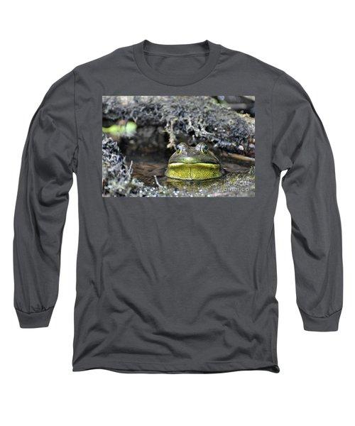 Long Sleeve T-Shirt featuring the photograph Bullfrog by Glenn Gordon