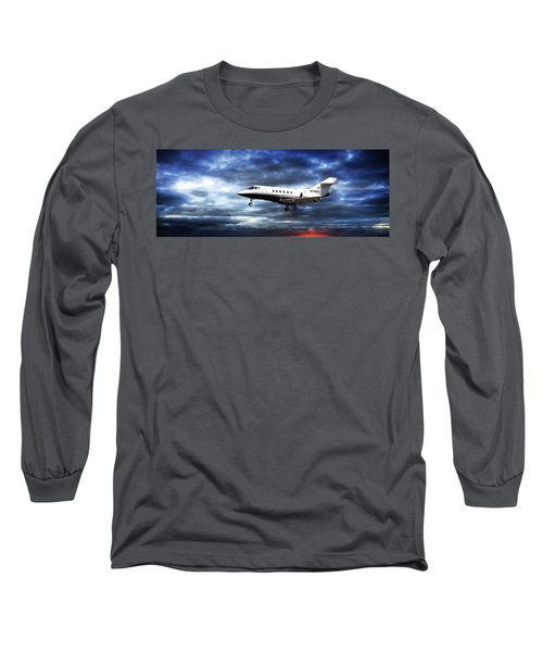 Blue Long Sleeve T-Shirt featuring the photograph Private Business by Aaron Berg