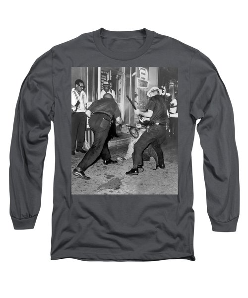 Protester Clubbed In Harlem Long Sleeve T-Shirt by Underwood Archives