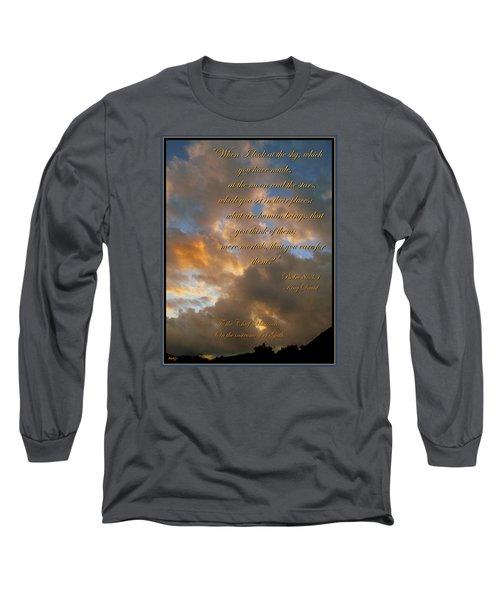 Psalm Eight Long Sleeve T-Shirt