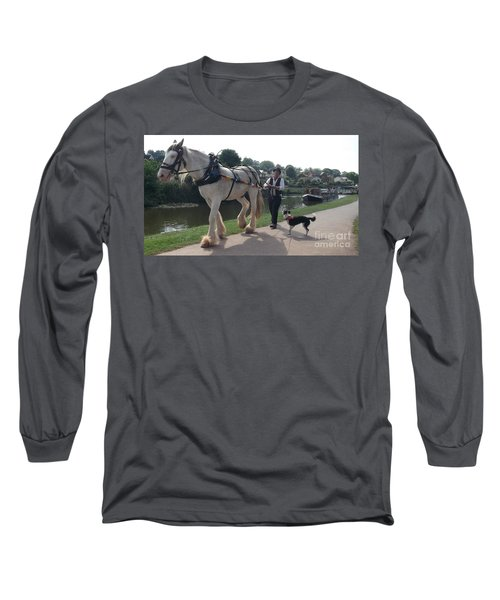 Pulling The Barge Long Sleeve T-Shirt by John Williams