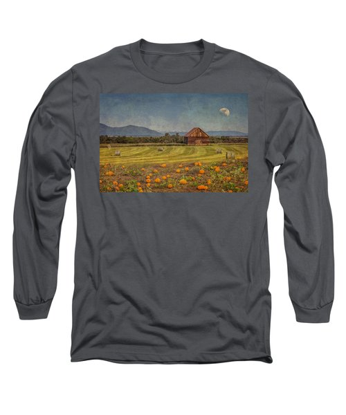 Pumpkin Field Moon Shack Long Sleeve T-Shirt